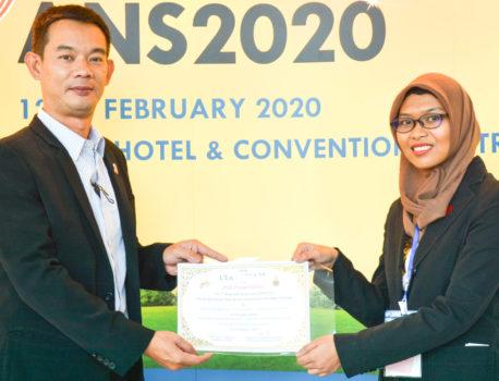 HaniさんがANS2020でOral presentation awardを受賞しました